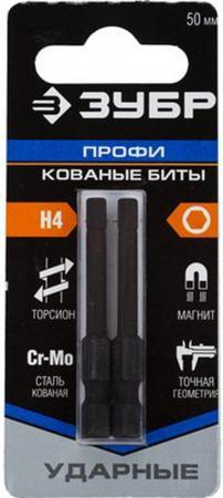 Бита ЗУБР ПРОФИ 26027-4-50-S2 HEX4 E 1/4 50мм 2шт на карт. электросамокат ezip e 4 5