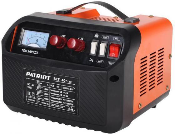 Устройство пуско-зарядное PATRIOT BCT- 40 Start 220В±15% 1500Вт 12/24В з/п42.0/250А 60-500А/ч 10кг зарядное устройство для аккумулятора patriot bct 15 boost