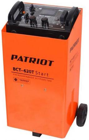 Устройство пуско-зарядное PATRIOT BCT-620T Start 220В±15% 3300Вт 12/24В з/п90/550А 50-1000А/ч 25кг зарядное устройство для аккумулятора patriot bct 15 boost