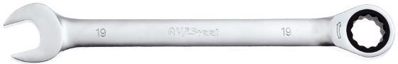 Ключ AVSTEEL AV-315019 комб с трещоткой 19мм