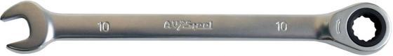 Ключ AVSTEEL AV-315010 комб с трещоткой 10мм