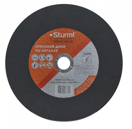 Круг отрезной STURM! 9020-07-300x30 по металлу армированный размер 300x3.0x32 диск sturm 9020 07 230x20 отрезной по металлу 230x2 0x22 2mm