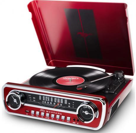 лучшая цена Виниловый проигрыватель ION MUSTANG LP с радио [red]