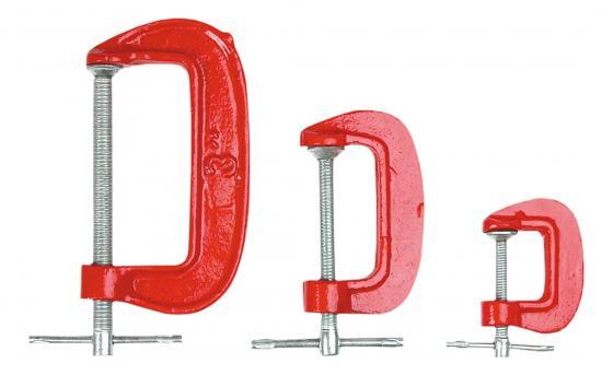 Струбцина Top Tools 12A375 тип g набор 3шт. набор инструмента top tools 38d205