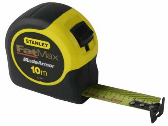 Рулетка STANLEY FATMAX 0-33-811 10м х 32мм рулетка stanley powerlock 0 33 443