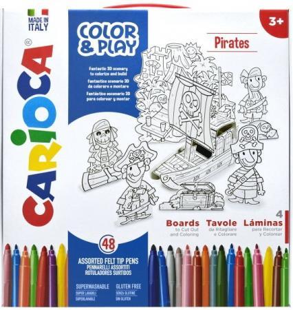 Набор для рисования CARIOCA COLOR&PLAY, Pirates, 52 предмета carioca набор смываемых восковых карандашей baby 8 цветов