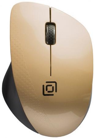 лучшая цена Мышь Oklick 695MW черный/золотистый оптическая (1000dpi) беспроводная USB (3but)