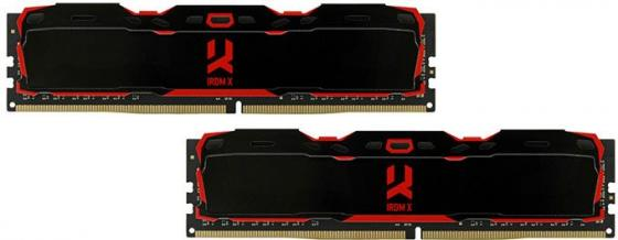 Модуль памяти DDR4 Goodram IRDM X Black 8GB KIT(4GBx2) 2666MHz CL16 SR [IR-X2666D464L16S/8GDC] with radiators