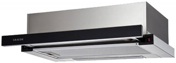 лучшая цена Вытяжка встраиваемая GRAUDE DHF 60.0 S нержавеющая сталь/черное стекло