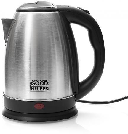 Чайник электрический Goodhelper KS-18B01 1500 Вт серебристый 1.8 л нержавеющая сталь цена и фото