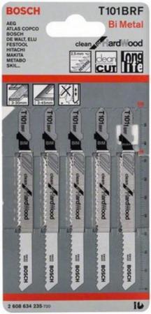 все цены на Bosch 2608634235 5 ЛОБЗИКОВЫХ ПИЛОК T 101 BRF, BIM онлайн