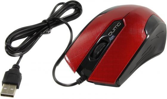 Мышь Qumo Office M14 Red [24132] {проводная, оптическая} все цены