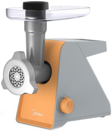 лучшая цена Электромясорубка Midea MG-2762 800 Вт серебристый оранжевый