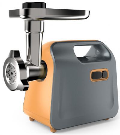 лучшая цена Мясорубка Midea MG-2777 700 Вт оранжевый серебристый чёрный