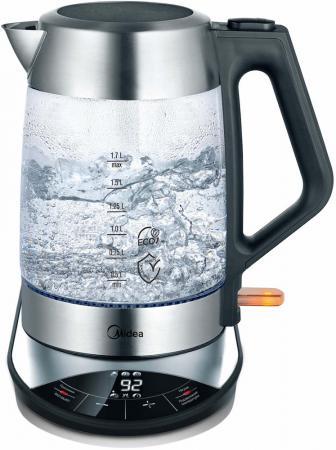 Чайник электрический Midea MK-8005 2200 Вт чёрный брашированная сталь 1.7 л стекло midea mk 17s18е