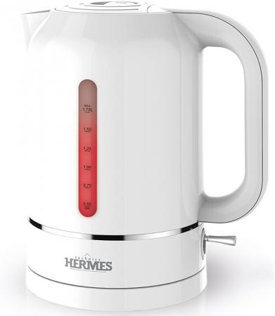 Купить Чайник электрический Hermes Technics HT-EK600 2000 Вт белый 1.7 л пластик