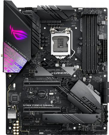 Материнская плата ASUS ROG STRIX Z390-E GAMING Socket 1151 v2 Z390 4xDDR4 3xPCI-E 16x 3xPCI-E 1x 6 ATX Retail e blue ems618 wired gaming mouse white