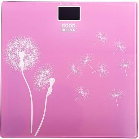 Весы напольные Goodhelper BS-S40 розовый рисунок весы goodhelper bs s40
