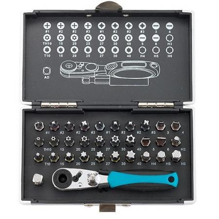 Набор бит GROSS 11365 1-4 магнитный адаптер, сталь S2 адаптер для бит с держателем и двойным магнитом 1 4 gross