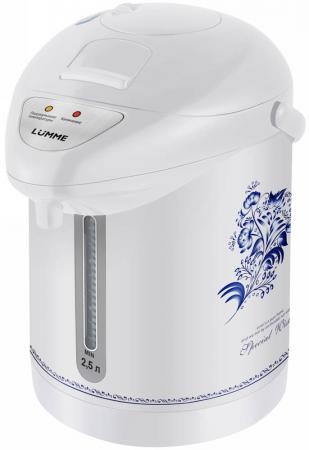 все цены на Термопот Lumme LU-3831 750 Вт белый рисунок 2.5 л металл/пластик онлайн