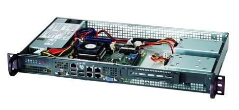 Серверный корпус mini-ITX Supermicro CSE-504-203B 200 Вт чёрный