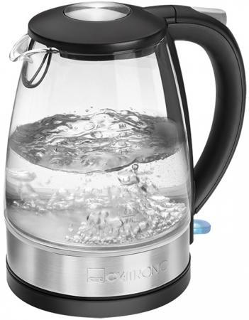 Чайник электрический Clatronic WKS 3680 G inox 2200 Вт Нержавеющая сталь прозрачный 1.7 л стекло чайник clatronic wks 3625 2200 вт фиолетовый 1 8 л металл
