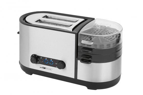 Тостер многофункциональный Clatronic TAM 3688 inox