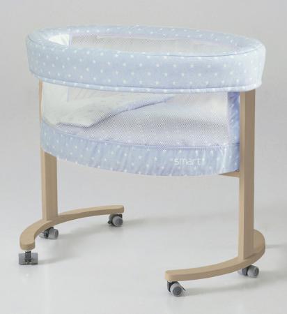 Колыбель с деревянной подставкой Micuna Smart Fresh (galaxy blue/natural) колыбель micuna микуна mini fresh с текстилем мо 1560 white beige