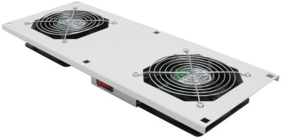 лучшая цена Вентиляторный модуль с 2 вентиляторами и термостатом для шкафов Evoline, серый