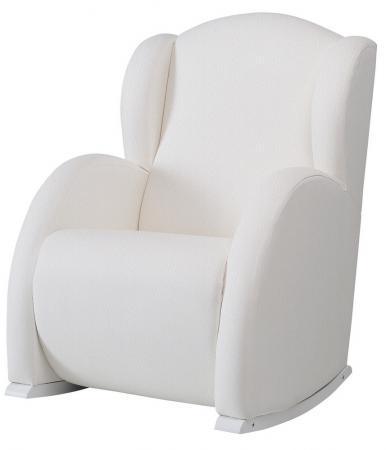 Кресло-качалка Micuna Mini Wing/Nanny(Цвет полозьев: White Цвет обивки: White Leatherette Искусственная кожа) модницы раскраска isbn 978 985 17 1187 7 978 985 17 1541 7