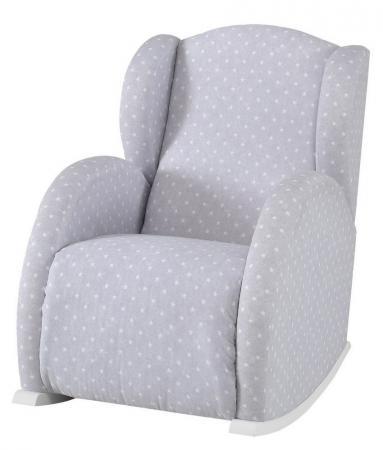Кресло-качалка Micuna Mini Wing/Flor(Цвет полозьев: White Цвет обивки: Galaxy Grey) колыбель micuna микуна mini fresh с текстилем мо 1560 white beige