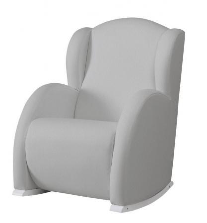 Кресло-качалка с Relax-системой Micuna Wing/Flor White Кожаная обивка(Цвет обивки: Leatherette Grey) модницы раскраска isbn 978 985 17 1187 7 978 985 17 1541 7