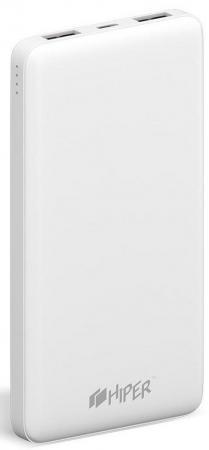Фото - Внешний аккумулятор Power Bank 10000 мАч HIPER ST10000 WHITE белый внешний аккумулятор power bank 10000 мач cyberpower cp10000peg белый