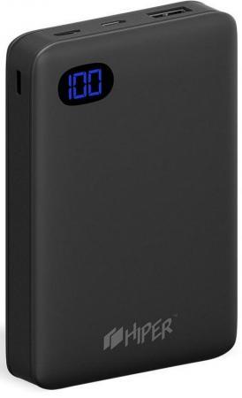 Мобильный аккумулятор Hiper SN10000 Li-Pol 10000mAh 2.4A черный 1xUSB все цены