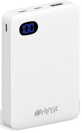 Внешний аккумулятор Power Bank 10000 мАч HIPER SN10000 BLACK белый 2600mah power bank usb блок батарей 2 0 порты usb литий полимерный аккумулятор внешний аккумулятор для смартфонов светло зеленый
