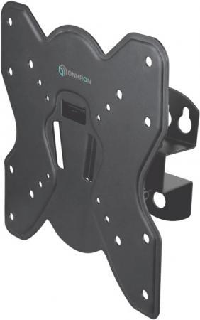 Кронштейн ONKRON/ 17-42'' макс 200*200 мм, наклон -+ 8?, поворот: 45°, от стены 85 мм, макс вес 35кг, черный кронштейн onkron 17 27
