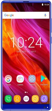Смартфон Oukitel MIX 2 Blue 8 Core (2.39GHz)/6GB/64GB/5.99 2160*1080/21Mp+2Mp/13Mp/2Sim/3G/4G/BT/WiFi/GPS/Android 7 dash camera junsun a730 32gb 7 inch 3g car gps navigation android wifi dvr camera video recorder rearview mirror vehicle gps