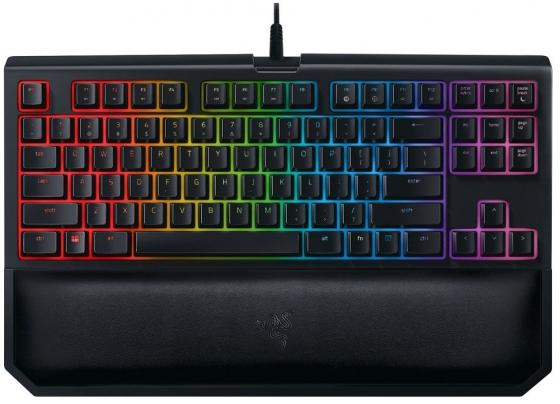 Клавиатура проводная Razer BlackWidow Tournament Chroma V2 USB черный RZ03-02190700-R3M1 клавиатура razer blackwidow tournament chroma black usb