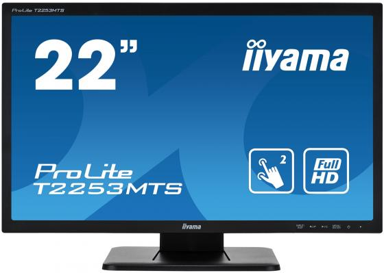 "Монитор 22"" iiYama ProLite T2253MTS-B1 черный TN 1920x1080 250 cd/m^2 2 ms DVI HDMI VGA Аудио USB iiyama gb2488hsu b2 24 черный dvi hdmi full hd"