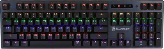 Клавиатура A4 B760 механическая черный USB Gamer LED