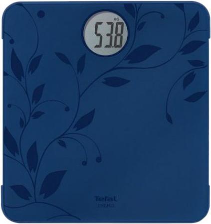 Весы напольные Tefal Premio Ivy Blue PP1212 синий рисунок чёрный tefal tefal pp1212 premio