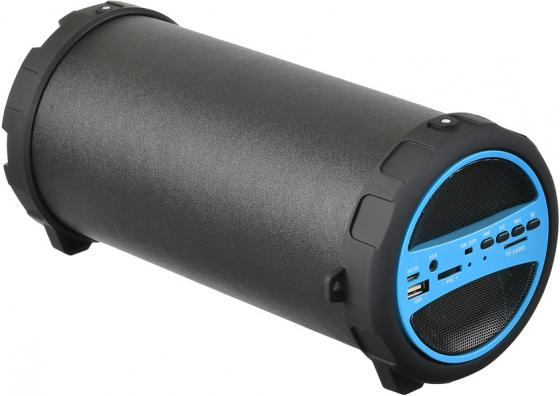 Колонка порт. Hyundai H-PAC220 черный/голубой 10W 1.0 BT/3.5Jack/USB