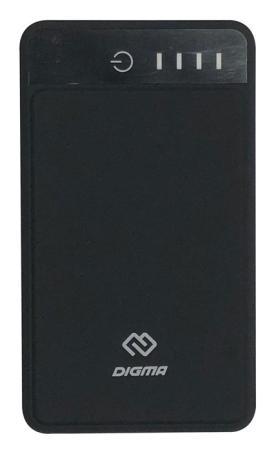 Внешний аккумулятор Power Bank 10000 мАч Digma DG-10000-3U-BK черный