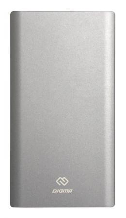 Внешний аккумулятор Power Bank 30000 мАч Digma DG-PD-30000-SLV серебристый