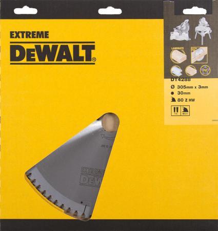 Купить Круг Пильный Твердосплавный Dewalt Dt4288-Qz По Дер./алюм. Extreme Dewalt®305/30 2.2/3.0 80 Tfz -5°