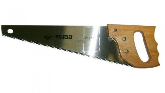 Ножовка SKRAB 20511 по дереву 400мм 3D-заточка 8TPI средний зуб дерев. ручка цена