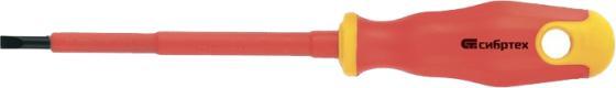 Отвертка СИБРТЕХ 12932 диэлектрическая sl4х100мм crv до 1000в двухкомпонентная рукоятка