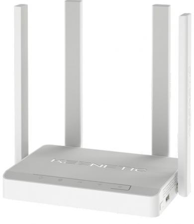 Беспроводной маршрутизатор ADSL Keenetic Keenetic Duo 802.11aс 1167Mbps 2.4 ГГц 5 ГГц 4xLAN USB серый KN-2110 беспроводной роутер keenetic duo adsl 2 2 белый [kn 2110]
