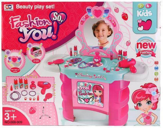 Набор игровой туалетный столик д/девочек, на бат. со светом, с зеркалом 008-909 в кор. в кор.4шт