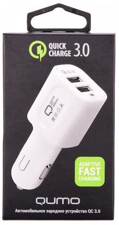 цена на Автомобильное зарядное устройство QUMO Dual Quick 2А белый